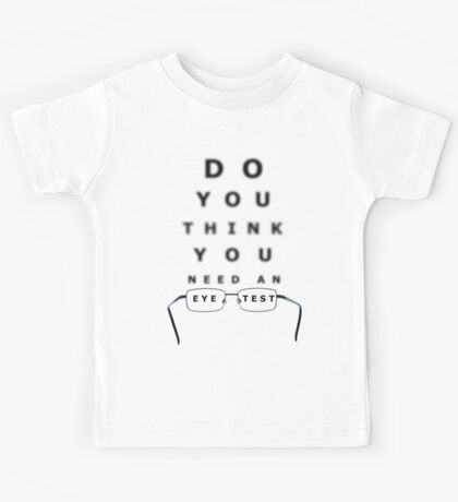 Eye Test Chart Kids Tee
