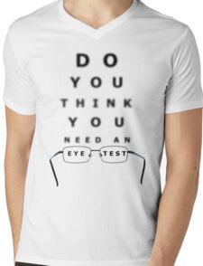 Eye Test Chart Mens V-Neck T-Shirt