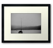 Foggy Ocean Framed Print