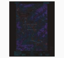 USGS Topo Map Washington State WA Mt Challenger 242624 1989 24000 Inverted Kids Tee