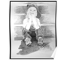 Commissioned Portrait of a Young Boy Poster