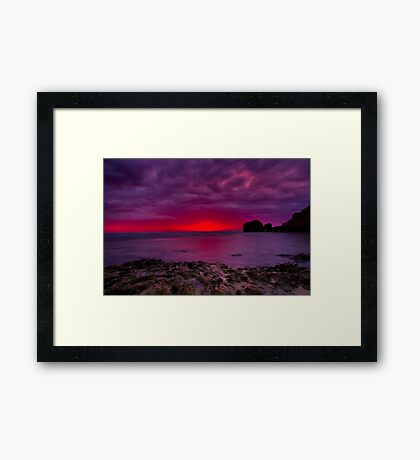 """Rocky Point Dawning"" Framed Print"
