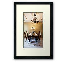 dining room interior Framed Print