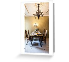 dining room interior Greeting Card