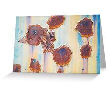 rusty goldfish Greeting Card