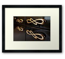 gold furniture handles Framed Print