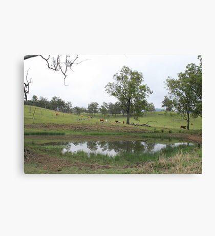 Maroon Landscape Canvas Print