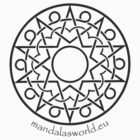 Arabian Mandala n1 Darkgrey by Mandala's World