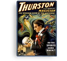 Thurston the great magician 1915 Vintage Poster Canvas Print