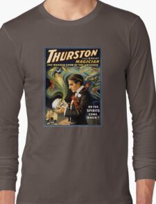 Thurston the great magician 1915 Vintage Poster Long Sleeve T-Shirt