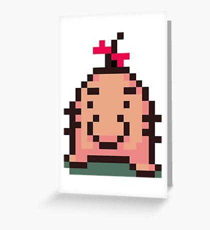 Ness Mr. Saturn Shirt Greeting Card