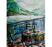 The Balcony In Nesso, Italy Photographic Print