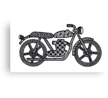 Patterned Motorbike Canvas Print
