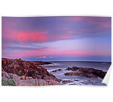 Boat Harbour Sunset Spectacular Poster