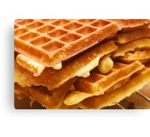 Baking Brussels Waffles Canvas Print