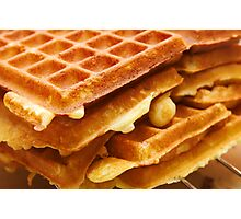 Baking Brussels Waffles Photographic Print