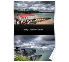 Tenby Lifeboat Stations Pembrokeshire Poster