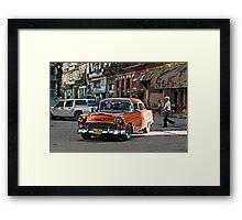 Rush hour, Havana, Cuba Framed Print