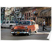 Rush hour, Havana, Cuba Poster