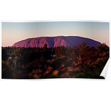 Ayers Rock Uluru Sunset, Australia Poster