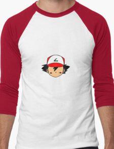 Simple Ash Men's Baseball ¾ T-Shirt
