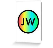JW Logo - Rainbow Greeting Card