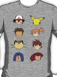 Simple Pokemon Main Characters T-Shirt