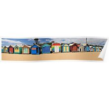 Bathing Boxes Panorama, Melbourne Poster