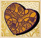 Golden-Purple-Heart-Shadow by Kerryn Madsen-Pietsch