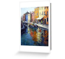 A view of Burano (Venice) Greeting Card