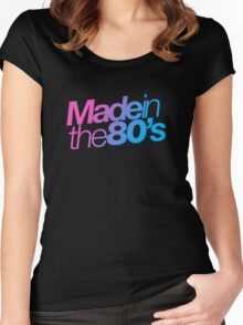 Made in the 80s - Helvetica Women's Fitted Scoop T-Shirt