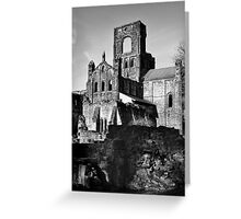 Kirkstall Abbey in Mono Greeting Card