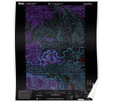 USGS Topo Map Washington State WA Elk Rock 241002 1998 24000 Inverted Poster