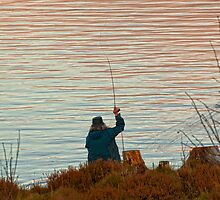 Fishing on Llyn Brenig by David J Knight