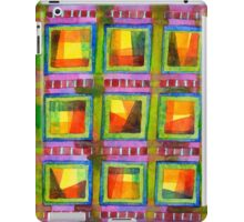 Light behind colourful geometric Windows iPad Case/Skin