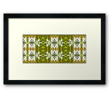 leaves an impression 1.0 Framed Print