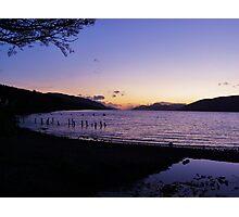 Loch Ness sunset Photographic Print