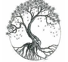 Abstract Cherry Blossom Tree by dvampyrelestat