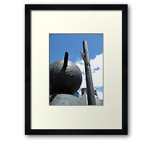 Snowman sculpture in Toronto Framed Print