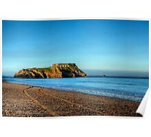 St Catherines Rock Tenby Pembrokeshire Poster