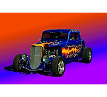 1933 Ford High Boy Custom Coupe Photographic Print