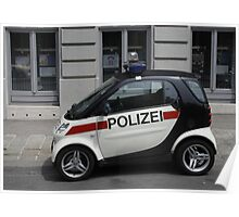 Smart Police Car Poster