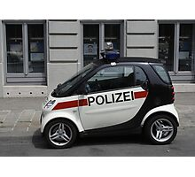 Smart Police Car Photographic Print
