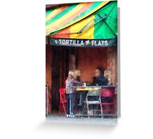 Tortilla Flats Greenwich Village Greeting Card