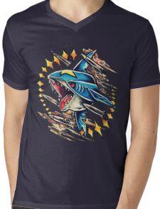 Sharpedo Mens V-Neck T-Shirt