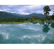 Reflecting pool, Pokhara hotel Photographic Print