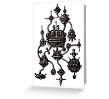 Robotic Life Form cartoon drawing Greeting Card