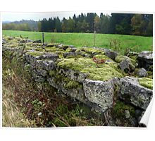 Old Stone Fence Poster