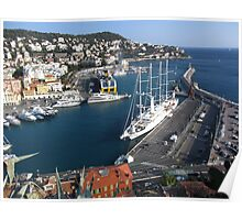 The harbor of Nice Poster
