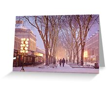 Quincy Market Stroll Greeting Card
